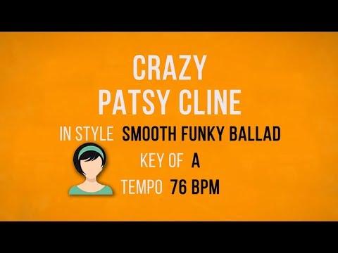 Crazy - Patsy Cline - Karaoke Backing Track - Funky Ballad Style