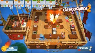 Five frantic levels from Overcooked 2