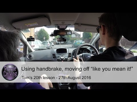 "Using handbrake, moving off ""like you mean it!"" & limit point analysis"