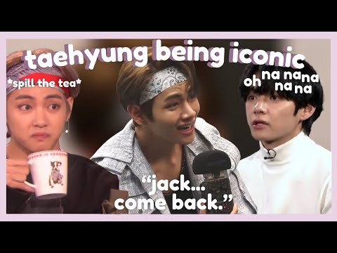 kim taehyung being iconic in interviews