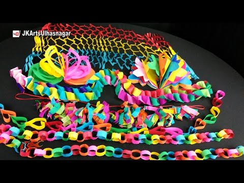7 Paper Decorations | DIY How to make | Summer camp craft | JK Arts 1054