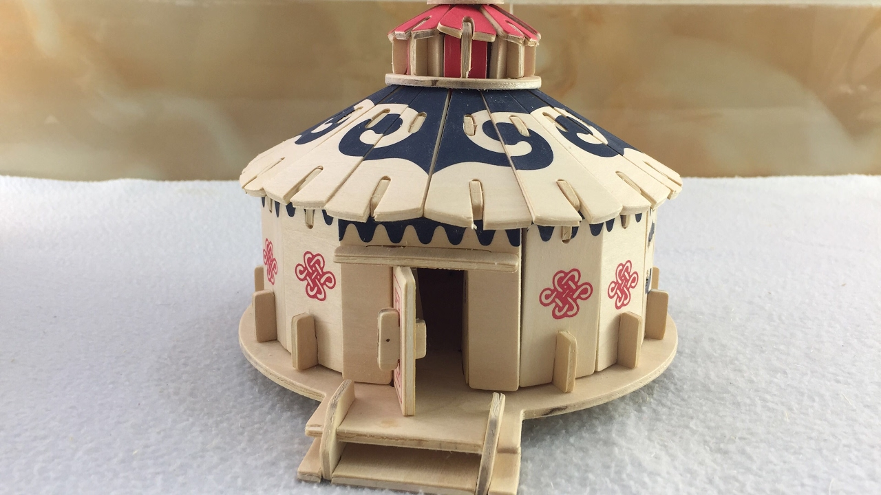 Wood Craft Construction Kit Diy How To Make A Wooden Mongolian Yurt