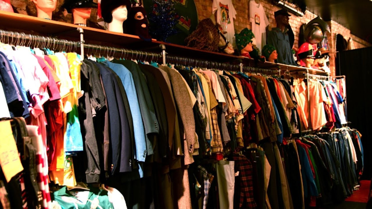 thrift consignment  vintage stores  nyc fashion  youtube