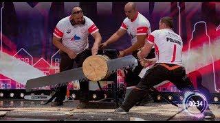 Rżnięcie drewna na czas! Na scenie leciały same wióry! [Mam Talent]