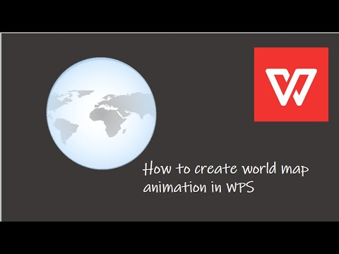 Create world map animation in WPS Presentation