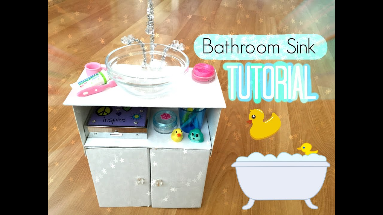 How To Make An American Girl Doll Bathroom Sink Youtube