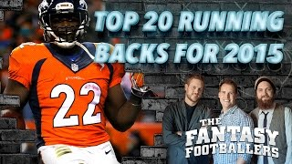 Top 20 Running Backs for 2015 - The Fantasy Footballers