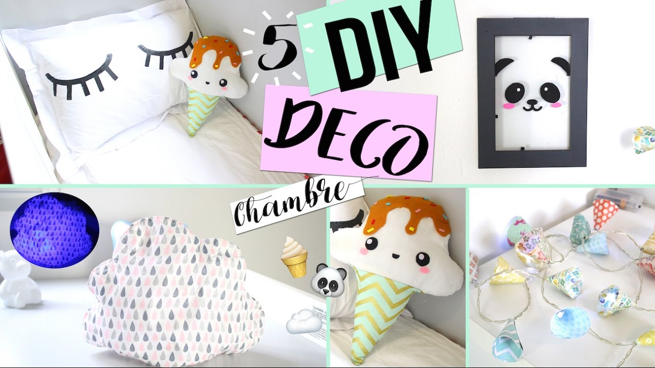diy deco chambre pas chere room decor francais youtube. Black Bedroom Furniture Sets. Home Design Ideas