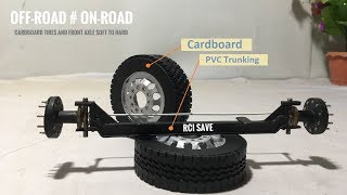 Cardboard RC Heavy Truck Front Axle On-Road Handmade at home Soft to Hard Project