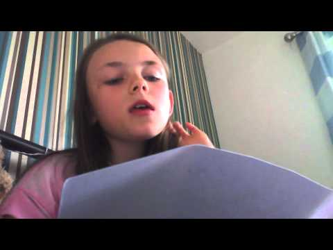 Girl singing her own song