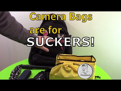 Camera bags are for suckers! Plus other camera gear tips..