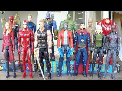 13 Bonecos Avengers Infinity War Completo - Coleção Brinquedos Hasbro
