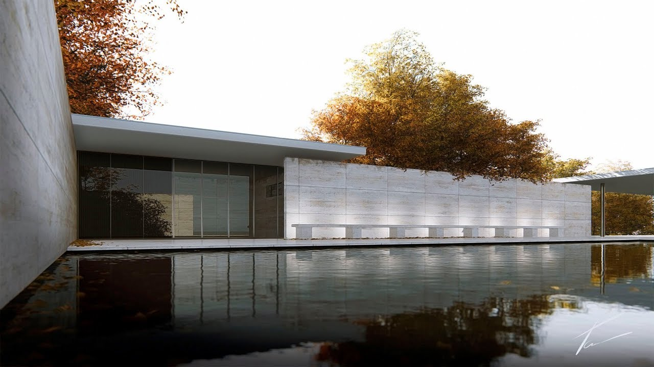 Mies Van Der Rohe.Tribute To Ludwig Mies Van Der Rohe Barcelona Pavilion Youtube