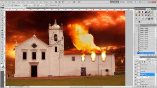 Speed Photoshop - Church on Fire