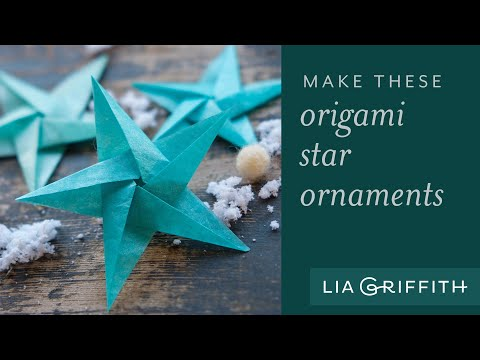 How to Make a Tissue Paper Origami Star