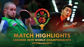 Xu Xin vs Jan Zibrat | 2019 World Championships Highlights (R128)