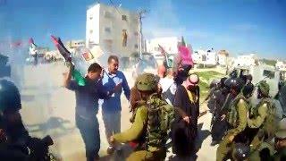 חיילים מפזרים הפגנה לא אלימה לפתיחת רחוב השוהדא בחברון
