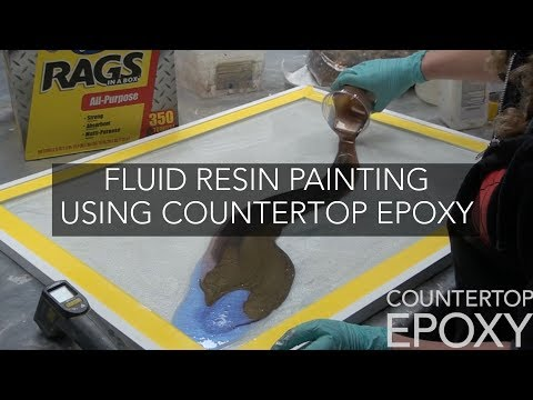 Fluid Resin Painting Using Countertop Epoxy