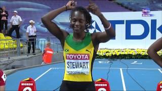 Final 100m. femenino. Atletismo  Cto. del Mundo Moscú 2013.