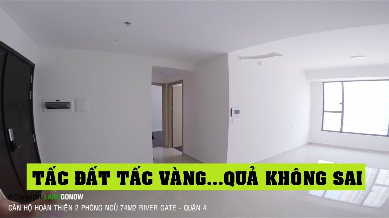 Căn hộ hoàn thiện River Gate Novaland, 2 phòng ngủ 74m2, Bến Vân Đồn, Quận 4 – Land Go Now ✔