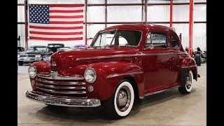 1948 Ford Super Deluxe red