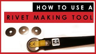 How to use a scale model rivet making tool