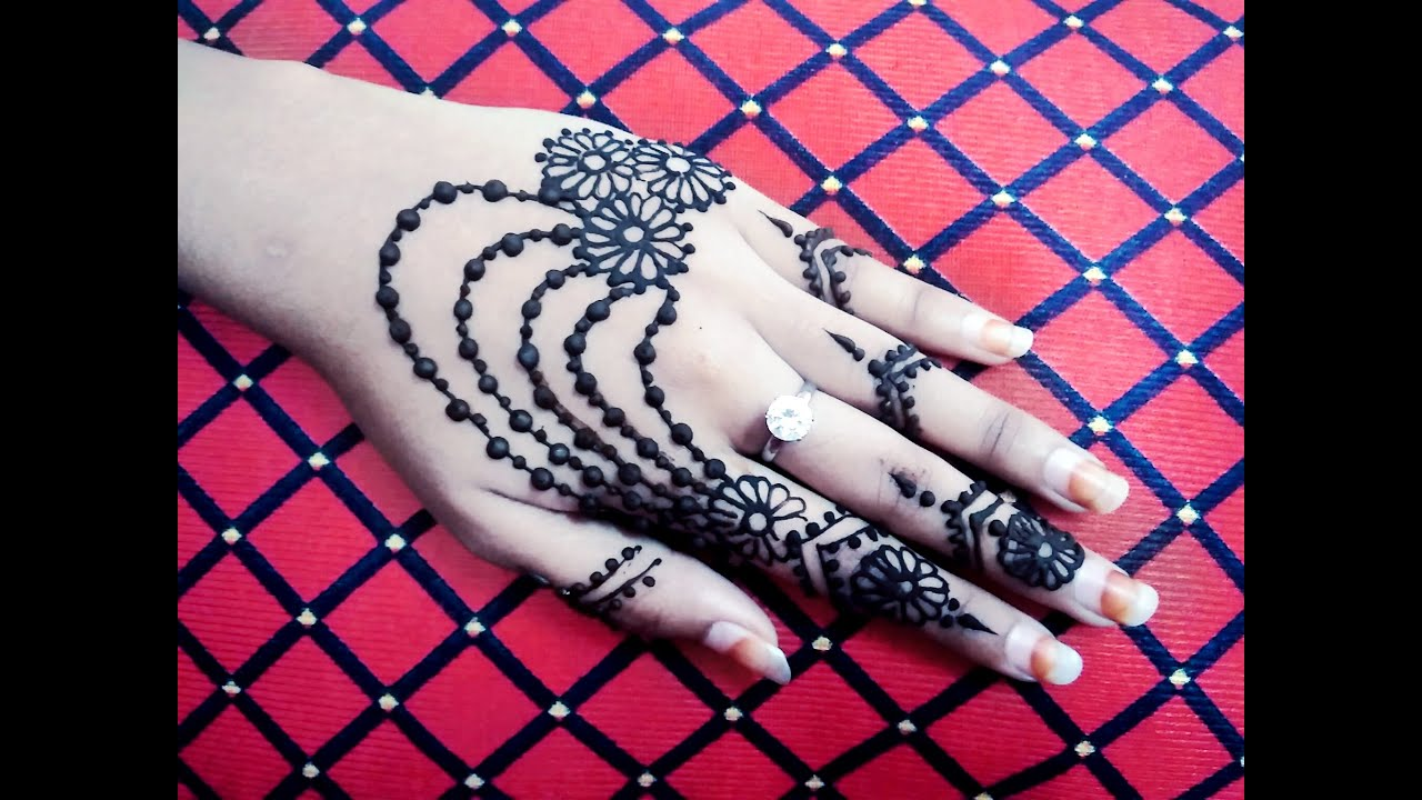 Beautiful Hand Jewellery Henna Mehndi Design Tutorial Naush