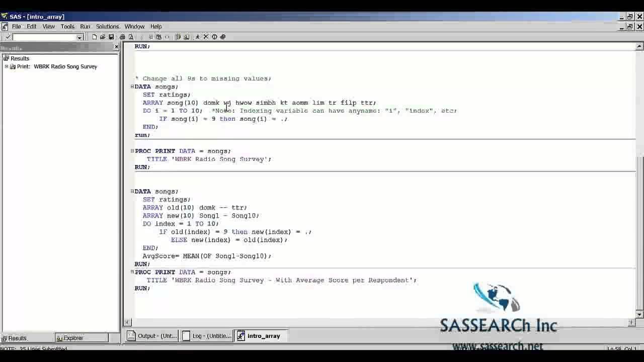 Sas base programming lesson 1 intro to arrays in sas youtube sas base programming lesson 1 intro to arrays in sas 1betcityfo Images
