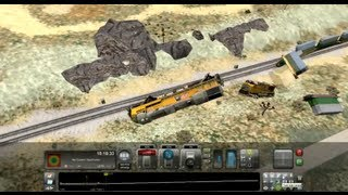 Train Simulator 2013 EPIC Derail Flying GE ES44AC UP @ Cajon Pass