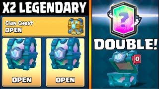 TWO LEGENDARY CHEST OPENING :: Clash Royale :: QUEST, TOUCHDOWN AND CLAN CHEST OPENING!
