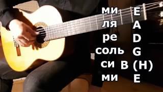Вводный Урок классической гитары, основы