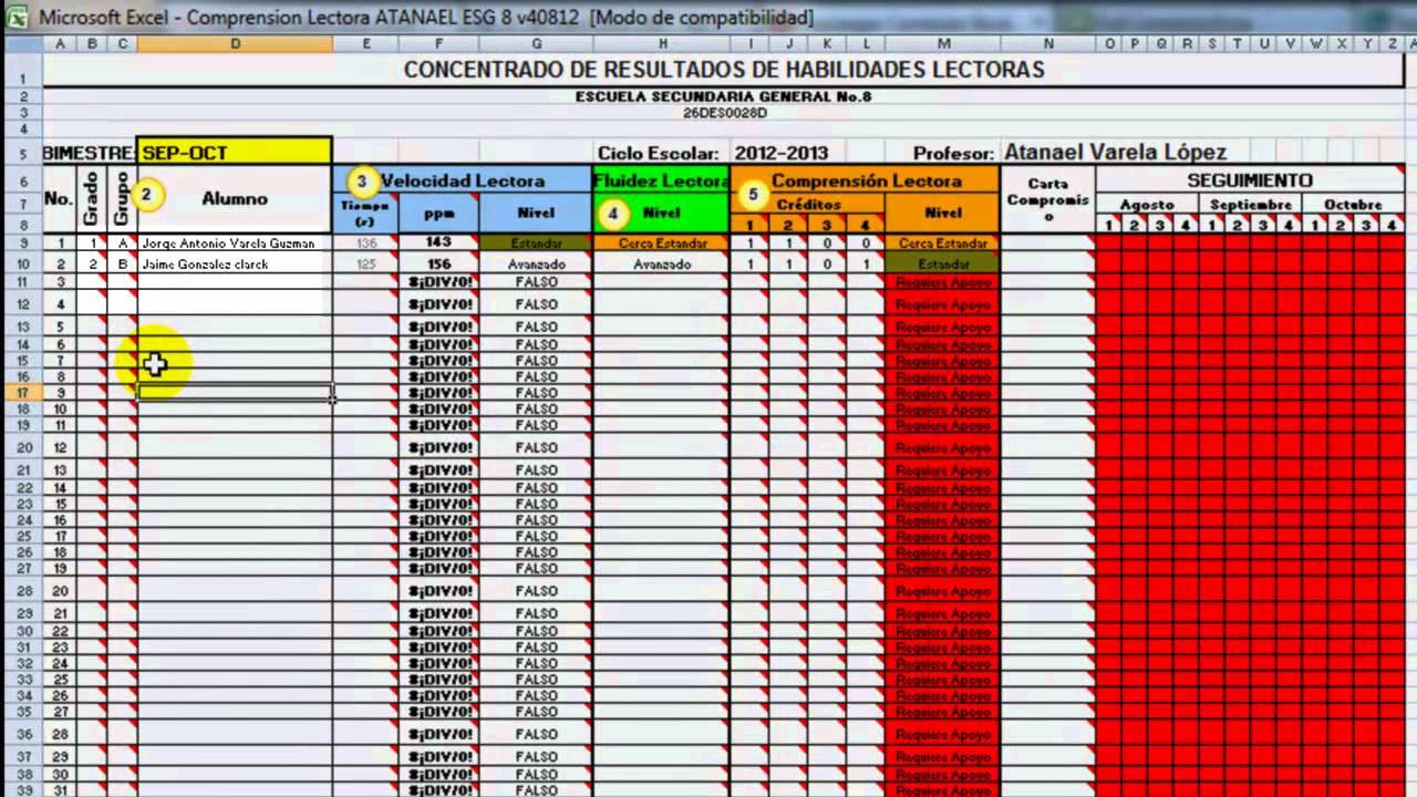 Software de Apoyo para Evaluar Competencias Lectoras (Nivel ...