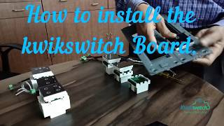 DIY or Installation of a Kwikswitch Switches in a 12-Module Plate. | Smart Home | Home Automation