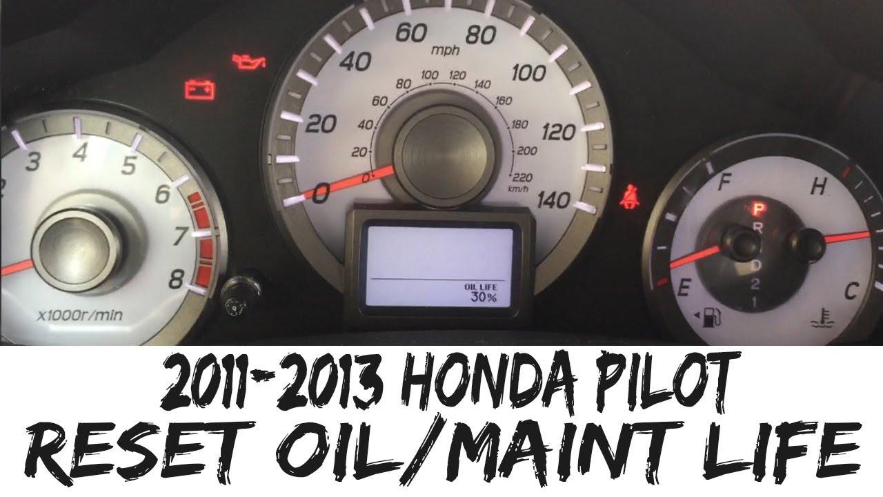 Reset Oil Life 2011 2013 Honda Pilot Maintenance Light 11