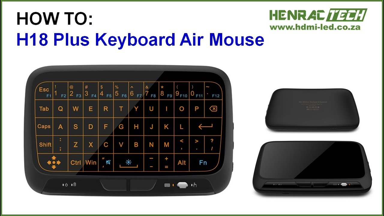 How To H18 Wireless Keyboard Tutorial Review Youtube