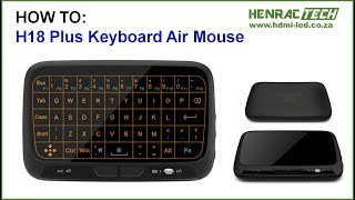 How to H18+ Wireless Keyboard, Tutorial, Review