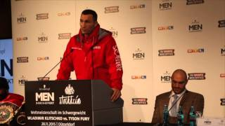 'TYSON FURY SAID HE NERVOUS. I GET NERVOUS BEFORE EVERYFIGHT.' - WLADIMIR KLITSCHKO