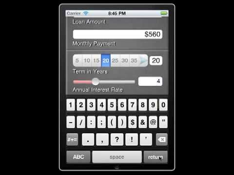 iPhone App   Mortgage Payments Calculator