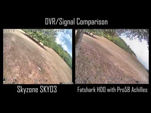Skyzone SKY03 03 FPV Goggles vs. Pro58 w/ Achilles ◘ DVR/Signal Comparison