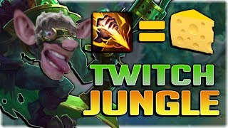 THE CHEESIEST JUNGLER EVER!? 100% FIRST BLOOD EVERY GAME! TWITCH JUNGLE IS STUPID! - Patch 7.18