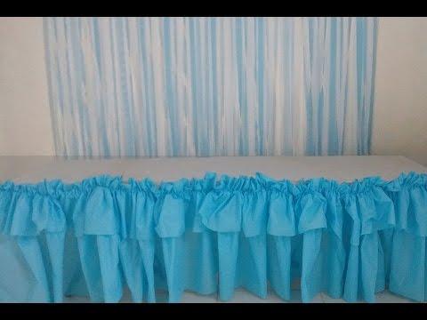 DIY - Painel de papel crepom