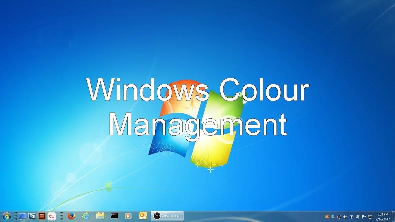 Windows Color Management Youtube