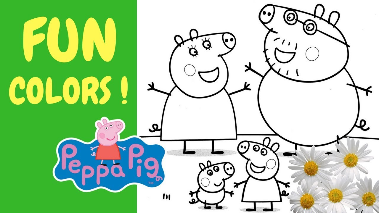 SPRING IS HERE ! PEPPA PIG COLORING , Coloring Pages , Coloring Book ...