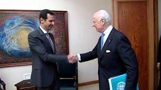 الأسد يعتبر مبادرة دي مستورا لوقف القتال جديرة بالدراسة