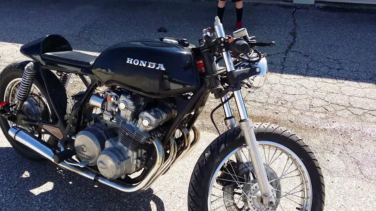 1981 cb750 cafe racer rat bike cold start - youtube