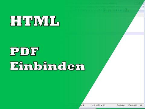 HTML PDF Dokument Einbinden | Tutorial