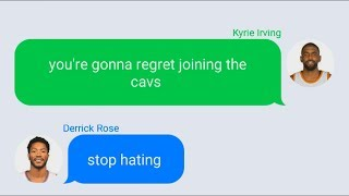 Kyrie Irving Texting Derrick Rose After Joining Cavaliers (PARODY)