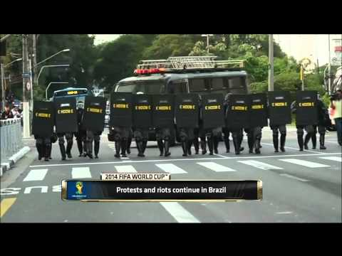 Reports of Gunfire During Protests in Brazil | 2014 FIFA World Cup, Brazil