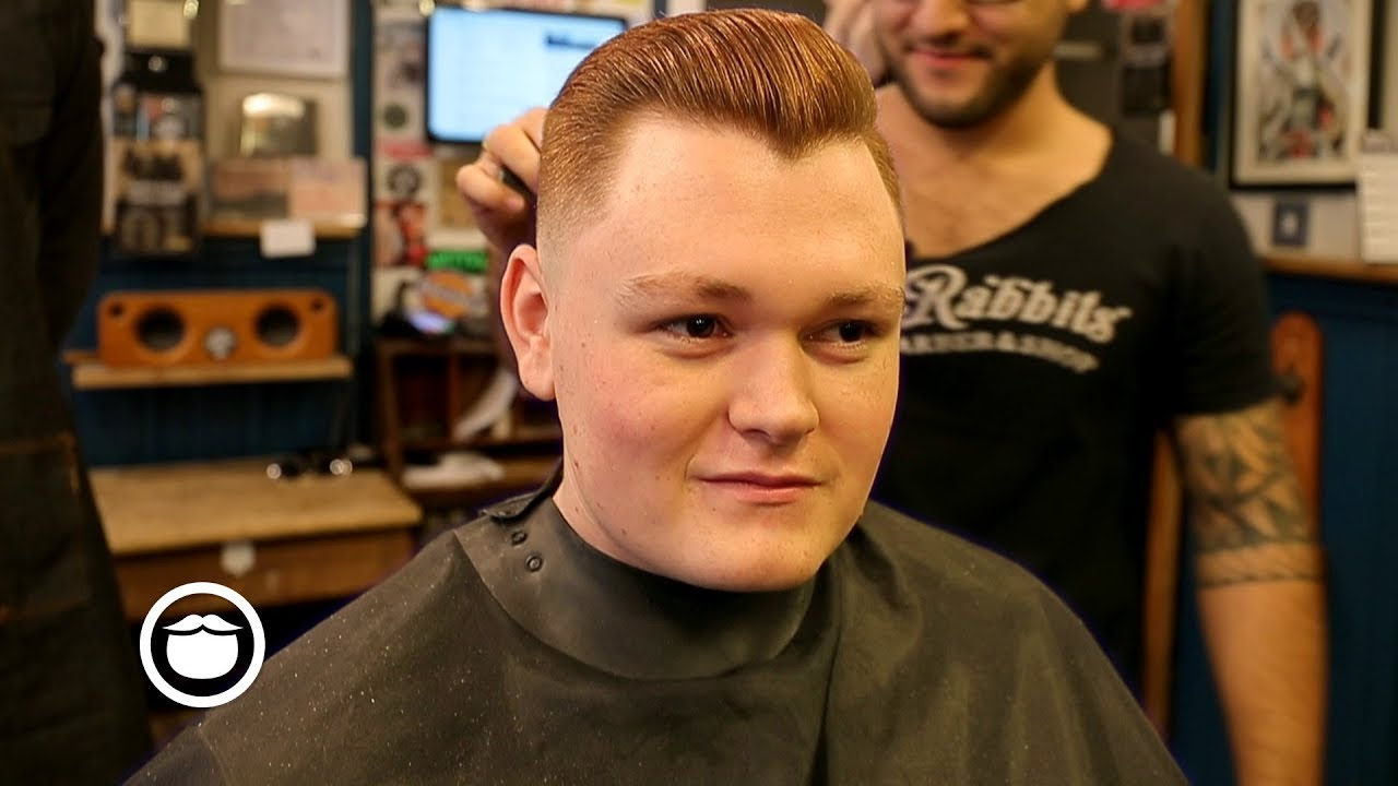 vintage style haircut on cool red hair