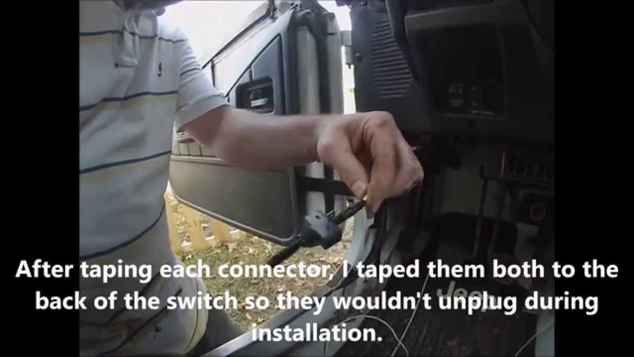 hight resolution of how to install toggle switch for an electric fan on radiator 1993 jeep wrangler yj